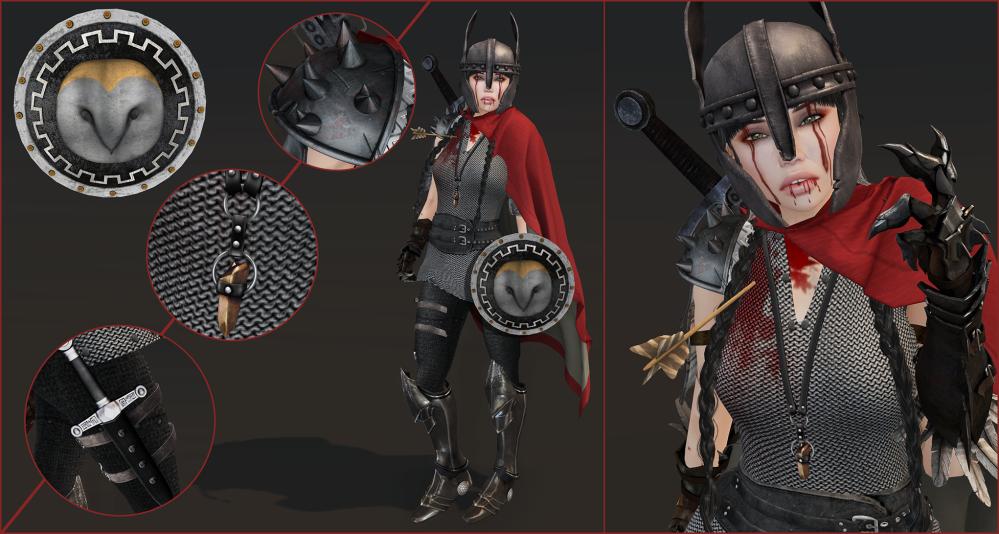 Defeat outfit details