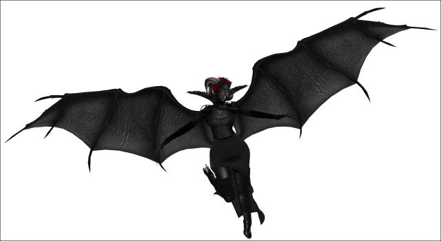 demon wings boobs